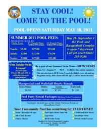 Boulder City Nevada Pool Flyer 2011