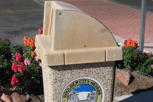 Trash Can in Boulder City, NV