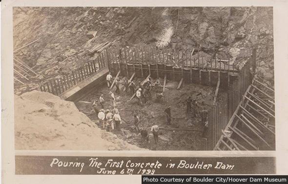 First Croncrete Pour for Boulder Dam