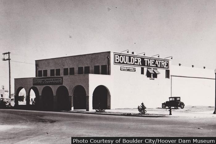 Boulder City, Nevada's Boulder Theatre in 1932