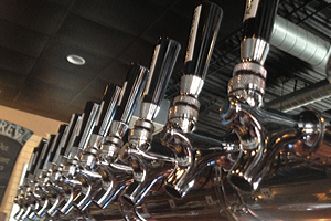 Beer Taps at Boulder Dam Brewing Company in Boulder City, Nevada
