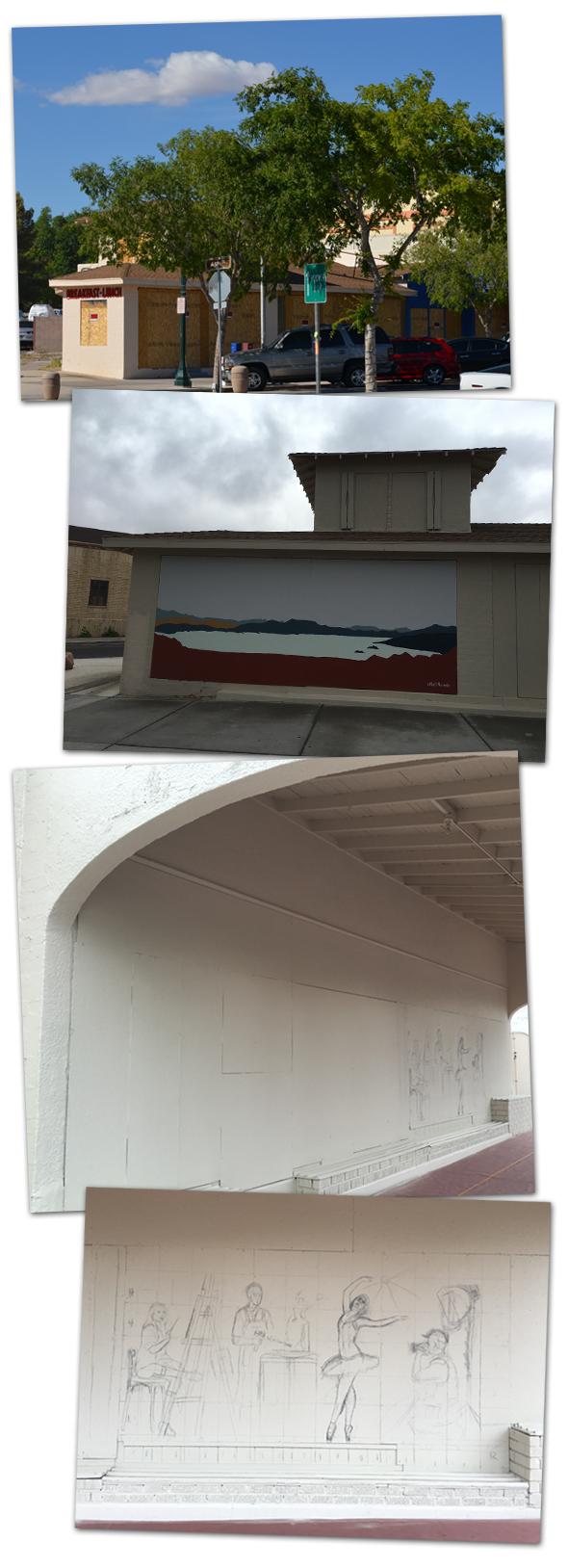 Browder Building Murals in Boulder City, Nevada