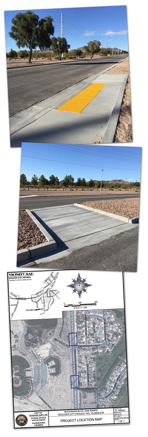 Buchanan Pedestrian Crossings in Boulder City, Nevada