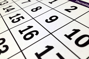 Calendar in Boulder City, Nevada
