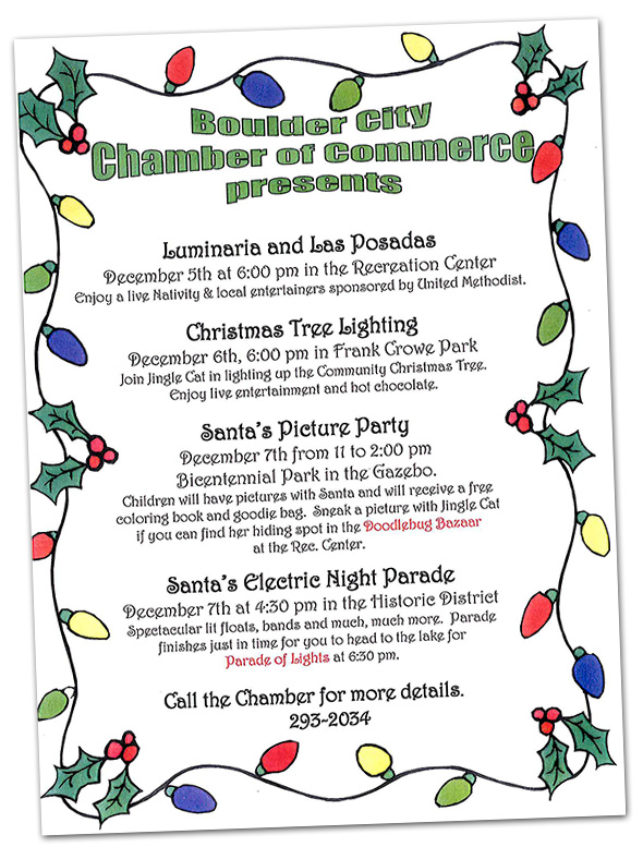 Chamber Holiday Event Schedule 2013 in Boulder City, Nevada