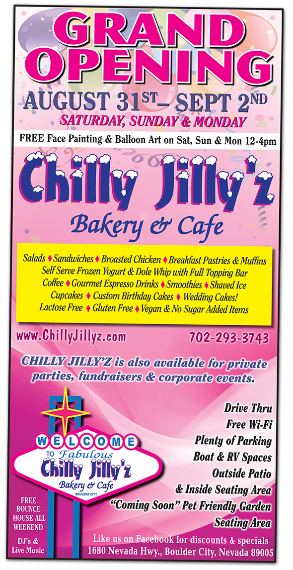 Chilly Jilly'z Grand Opening in Boulder City, Nevada