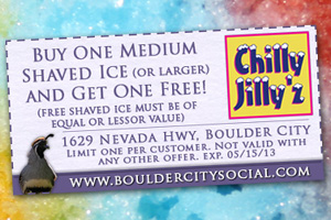 Chilly Jilly'z Coupon in Boulder City, Nevada