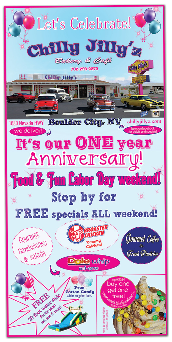 Chilly Jilly'z One Year Anniversary Party in Boulder City, Nevada