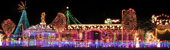 Christmas Lights On Fifth Street in Boulder City, NV