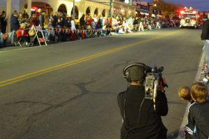 Santa's Electric Night Parade on Cox Cable in Boulder City, Nevada