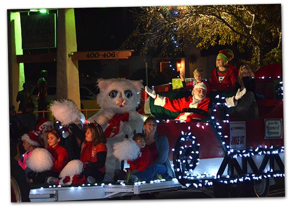 Jingle Cat & Santa in Boulder City, NV Christmas Parade
