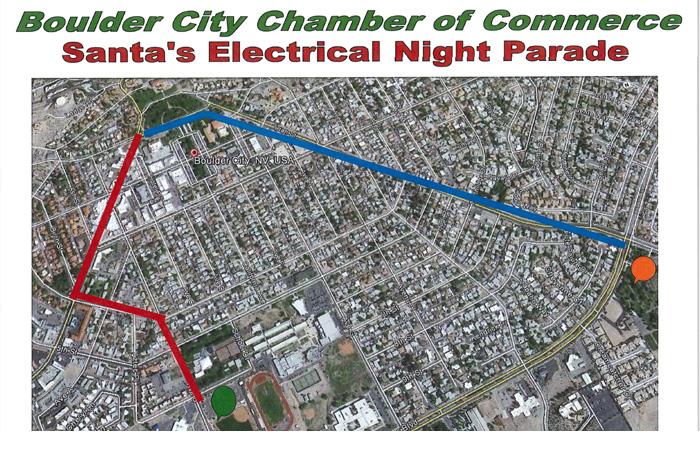 Boulder City, Nevada Christmas Parade Route