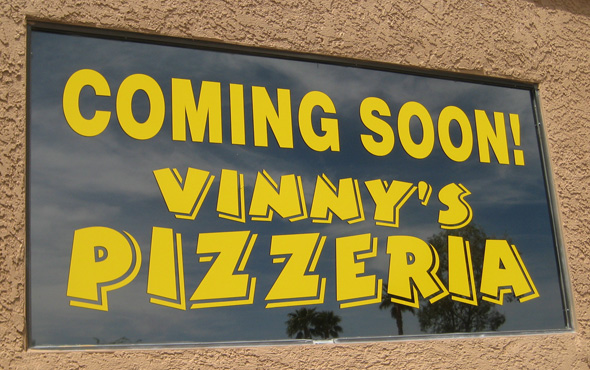 Coming Soon Vinny's Pizzeria in Boulder City, NV