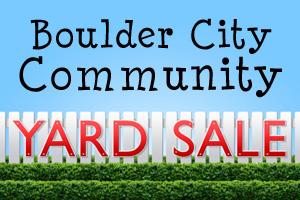 Community Yard Sale in Boulder City, NV