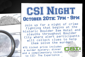 CSI Night 2012 in Boulder City, Nevada