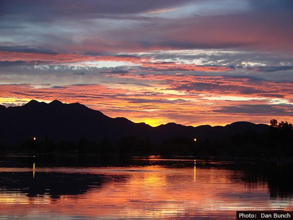 Lake in Veteran's Memorial Park in Boulder City, Nevada