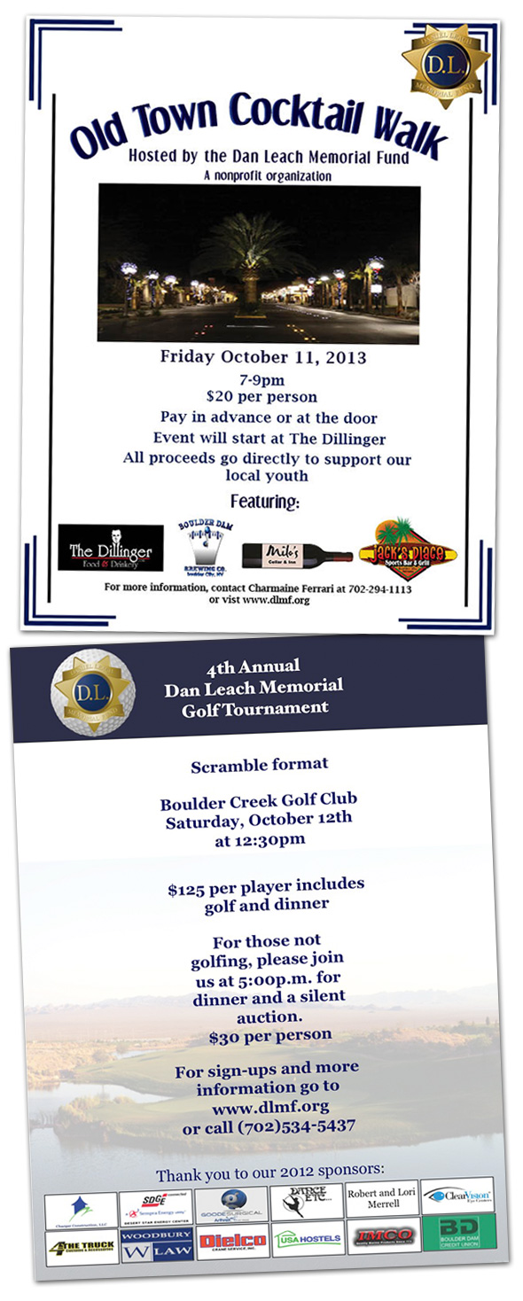 Dan Leach Memorial Fund 2013 Events in Boulder City, Nevada