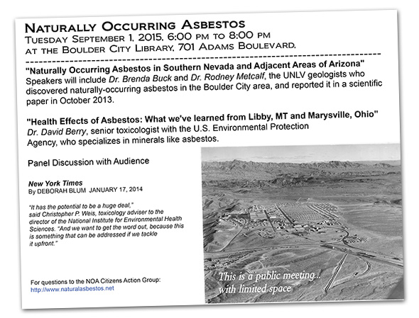 Deadly Dust Asbestos Report in Boulder City, Nevada