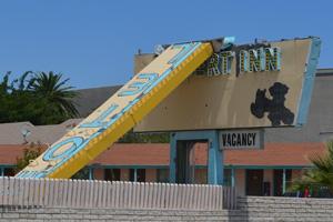Desert Inn Motel Sign in Boulder City, Nevada