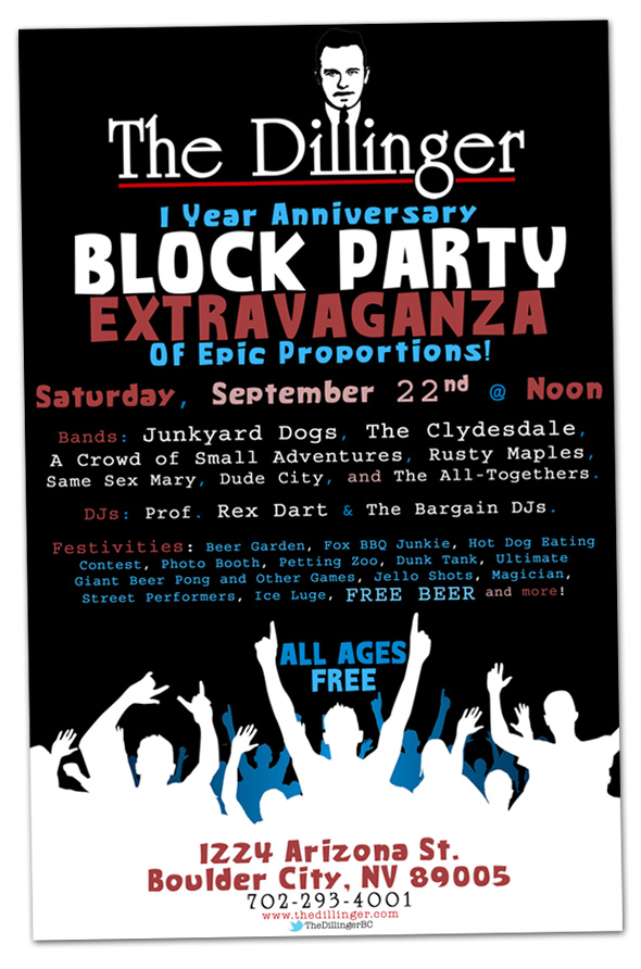 Dillinger 1 Year Anniversary Block Party