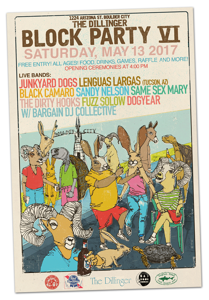 The Dillinger Block Party 2017 in Boulder City, Nevada