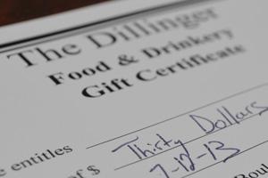 The Dillinger in Boulder City, NV Gift Certificate