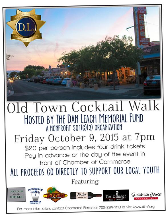 Dan Leach Memorial Fund Cocktail Walk 2015 in Boulder City, Nevada