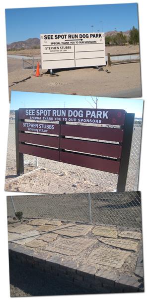 See Spot Run Dog Park Signage in Boulder City, NV