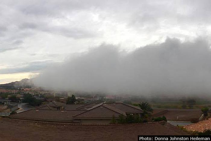 Fog Rolling in Over Boulder City, Nevada