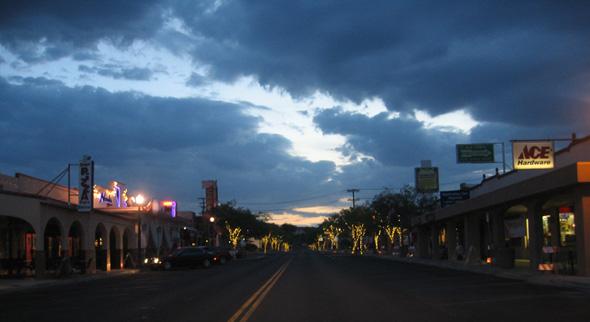 Downtown Boulder City, Nevada Morning