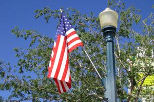 Flag Flying in Downtown Boulder City, NV