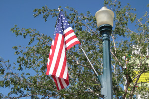 Flagpole in Downtown Boulder City