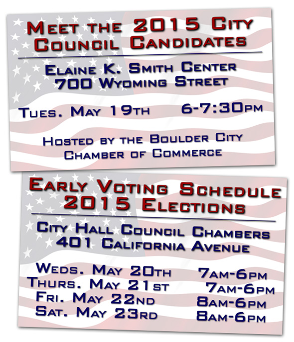 Early Voting 2015 in Boulder City, Nevada