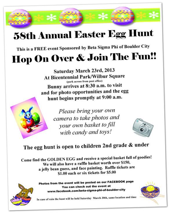 Easter Egg Hunt in Boulder City, Nevada