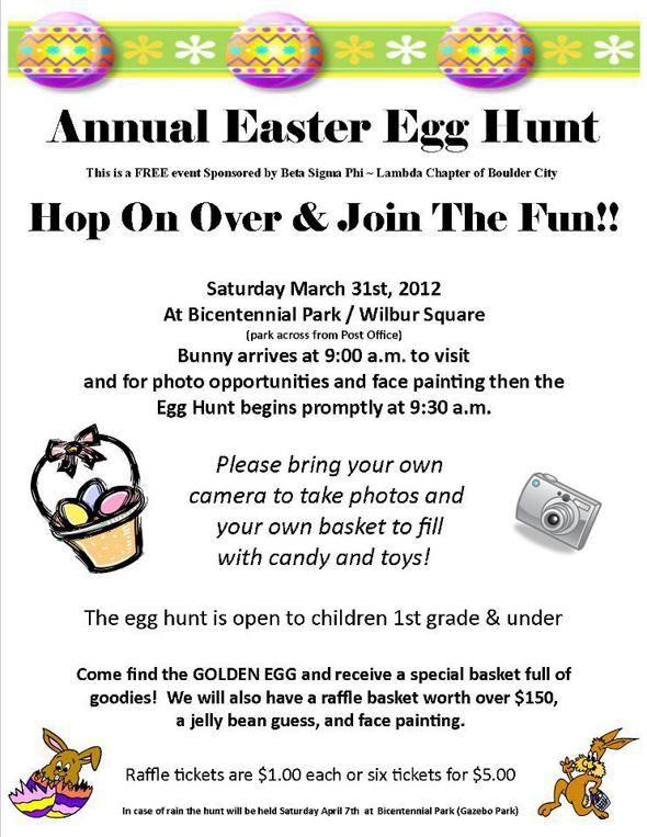 Easter Egg Hunt Flyer 2012