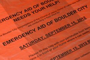 Emergency Aid Food Drive in Boulder City, NV