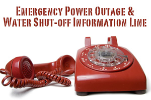 Emergency Power and Water Shut-Off Information Line in Boulder City, Nevada
