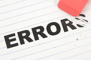 Erasing an Error