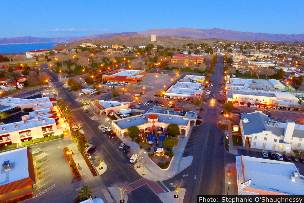 Drone View of Boulder City, Nevada
