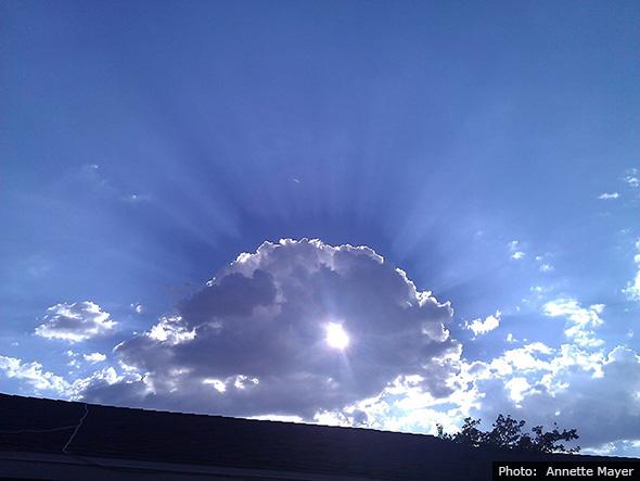 Boulder City, Nevada Sky by Annette Mayer