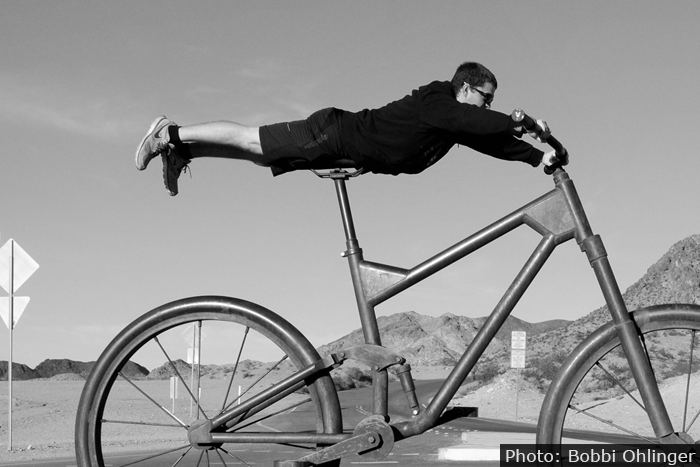 Bootleg Canyon Biker in Boulder City, Nevada