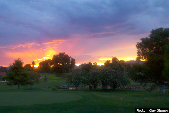 Sunset in Boulder City, Nevada