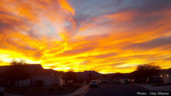 Boulder City, Nevada Sunset by Clay Shanor