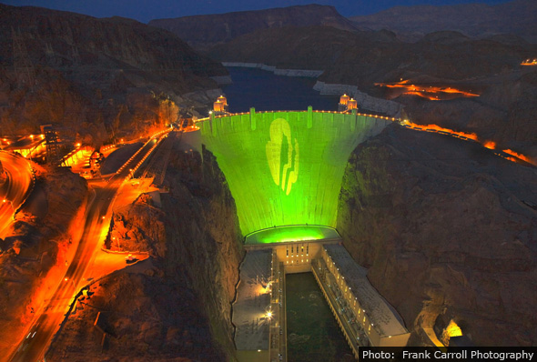 Girl Scouts on Hoover Dam by Frank Carroll