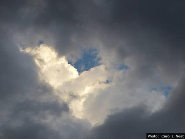 Valentine's Day Heart Clouds in Boulder City, Nevada
