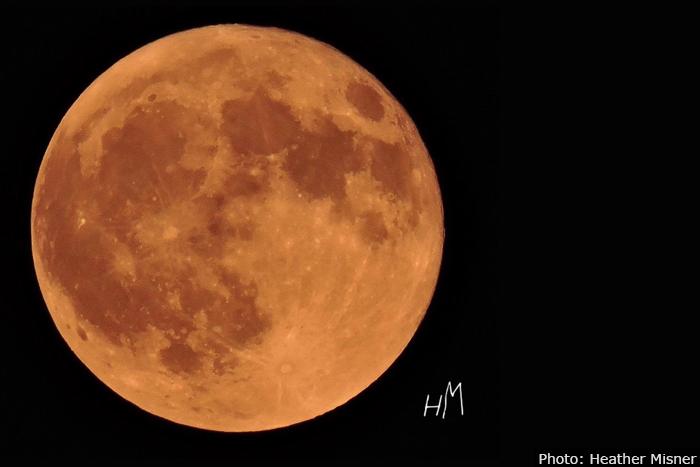 Harvest Moon over Boulder City, Nevada
