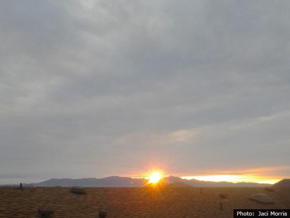 Photo by Jaci Morris Sunrise in Boulder City, Nevada