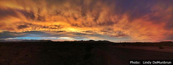 Photo by Lindy DeMunbrun Sunset of Boulder City, Nevada