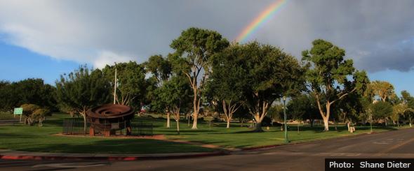 Wilbur Square Rainbow in Boulder City by Shane Dieter