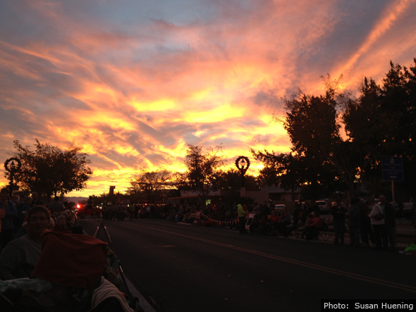 Fan Photo Susan Huening Holiday Parade Sunset in Boulder City, NV